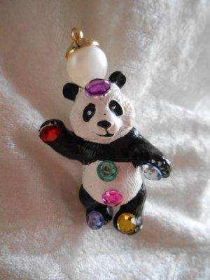 coole Panda Bär Statement Brosche Rarität