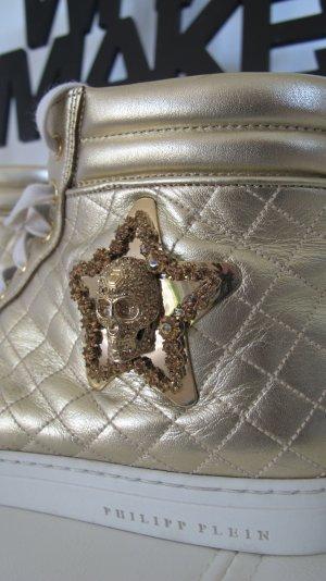 "Coole ""Philipp Plein"" Sneaker Gr. 41 in gold NP ca. 800,-€ !! *** RESERVIERT ***"