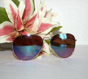Coole Piloten Sonnenbrille Spiegelverglasung Ölig