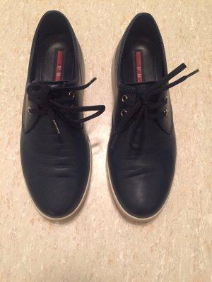 Coole Prada Sneaker, dunkelblau & weiße Gummi-Laufsohle/ Gr.37,5 - 38