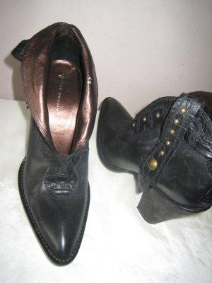 Coole Puccini Luxus Festival Boots Vollleder Bronze Nieten Top NP 169 € wie NEU
