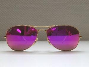 Coole Ray Ban Pilotenbrille Pink verspiegelt