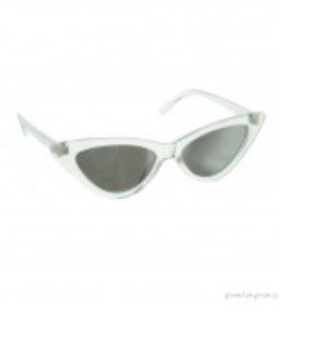 Coole retro Sonnenbrille von palapas in farblos neue Kollektion