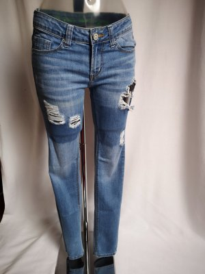 One green elephant Slim Jeans azure-steel blue