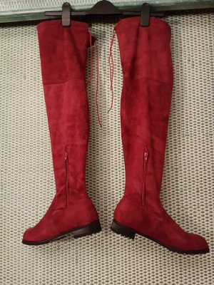 coole rote Overknees # 1x kurz getragen # wie neu# D 40 - D 40.5 kleine D 41 gebraucht kaufen  Wird an jeden Ort in Österreich