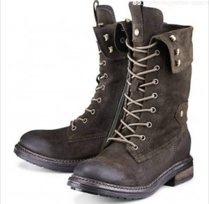 Cox Lace-up Boots brown