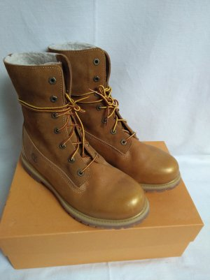 Timberland Lace-up Boots sand brown-natural white leather