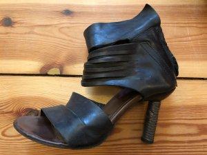 A.S.98 Hoge hakken sandalen zwart Leer