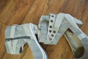 Coole Schuhe Gr. 39 Marco Tozzi Urban Style grau Top