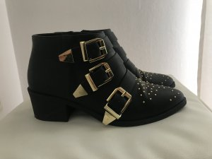 Coole schwarze Booties Gr. 40