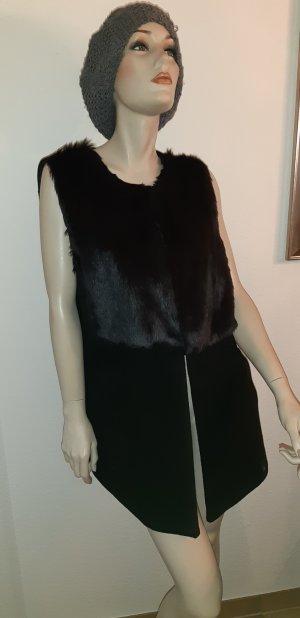 Koton Fake Fur Vest black