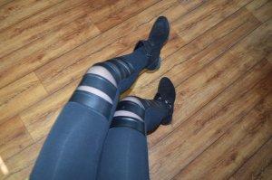 Graceland Bottines à fermeture éclair noir-argenté