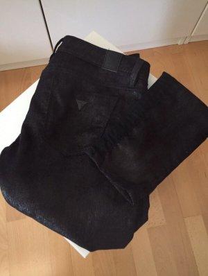 Guess Pantalone a sigaretta nero-argento