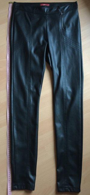 Coole schwarze Kunstlederhose von edc in 36, Länge 104 cm