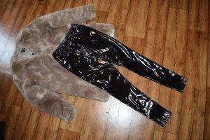 Coole schwarze Lackhose Gr. 36 Fashionnova