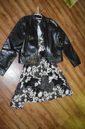 Coole schwarze Leder-Jacke Gr.L EDC by Esprit Vintage Look?