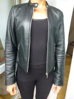 Coole schwarze Lederjacke von Gipsy