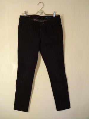 Coole schwarze Skater-Jeanshose