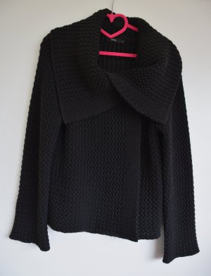 Zero Coarse Knitted Jacket black wool