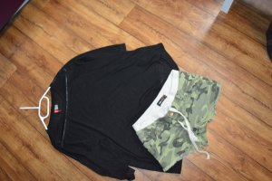 FB Sister Pantalón corto negro-caqui