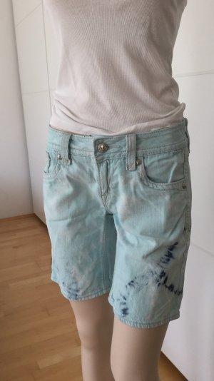 Rock Revival Pantalón corto de tela vaquera multicolor