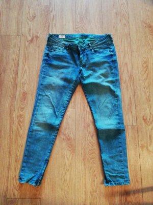 Pepe Jeans London Jeans a 7/8 petrolio
