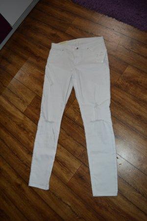 Coole Skinny Jenas weiss Gr. 42 von H&M Neu Cut