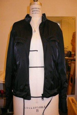 Coole Skunfunkjacke schwarz glänzend Blouson