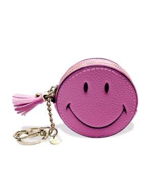 coole Smiley Geldbörse und Schlüsselanhänger im pink !