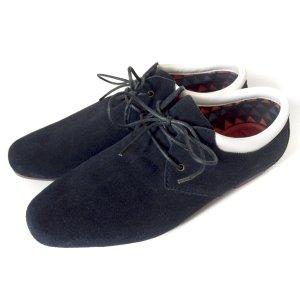 coole Sneaker Schnürschuhe Schnürer Pointer blau Leder Gr. 38 brand NEU