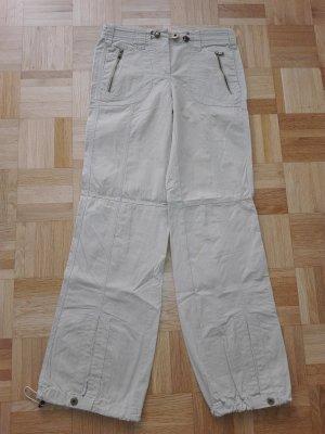 Coole Sommer Hosen Militär-still,in hell beige Farbe aus Baumwolle Mischung