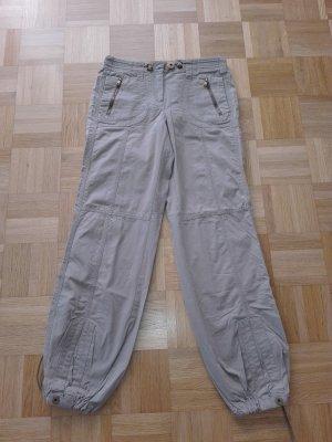 Coole Sommer Hosen Militär-still, in khaki Farbe aus Baumwolle Mischung