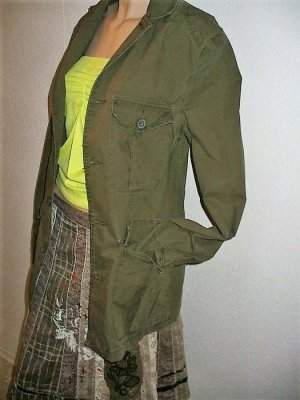 H&M Military Jacket olive green cotton