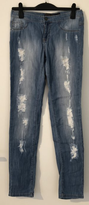 Coole sommerliche Slim Jeans im Destroyed Look, W29, ONLY