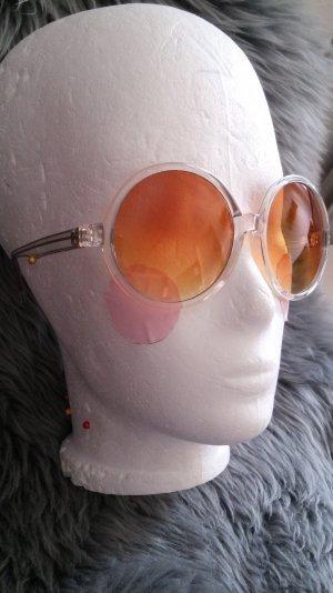 coole Sonnenbrille transparent Party Hochzeit Blogger Trend