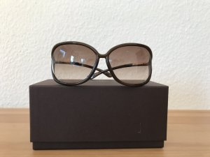 Tom Ford Glasses brown-gold-colored synthetic material