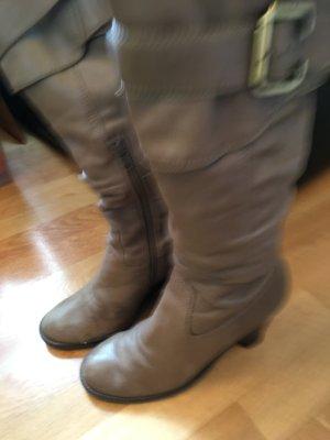Coole Stiefel in taupe grau Gr. 39 von BRONX Keilabsatz