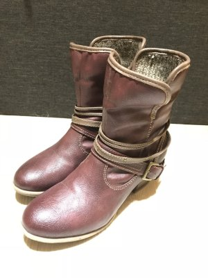 Mustang Winter Booties bordeaux-grey