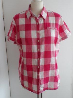 coole Street One Karo Bluse Gr. 42 Pink Weiß wenig getragen