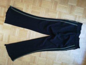 Gaetanonavarra Wollen broek zwart-olijfgroen Merinowol