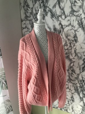H&M Coarse Knitted Jacket light pink-pink