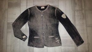 coole Strickjacke von Grace Wilde Herze  Gr. 40, WILD, schwarz/grau wie NEU
