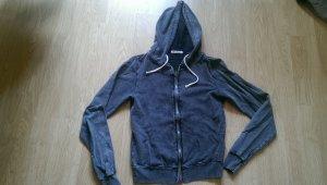 Hooded Vest dark grey cotton
