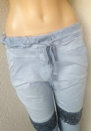 Milano Pantalone fitness azzurro