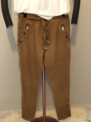 Pantalon de jogging argenté-brun tissu mixte