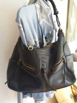 Coole Tods Schultertasche XL  Tasche Biker Style Schwarz Top