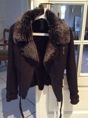 Naf naf Fake Fur Jacket dark brown