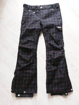 coole und trendige Snowboardhose von Roxy in M, in schwarz mit pinken Streifen