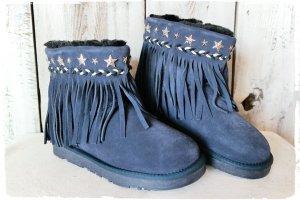 Coole Velour Leder Fransen Snow Boots Si Barcelona