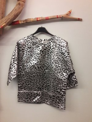 Cropped Shirt black-silver-colored